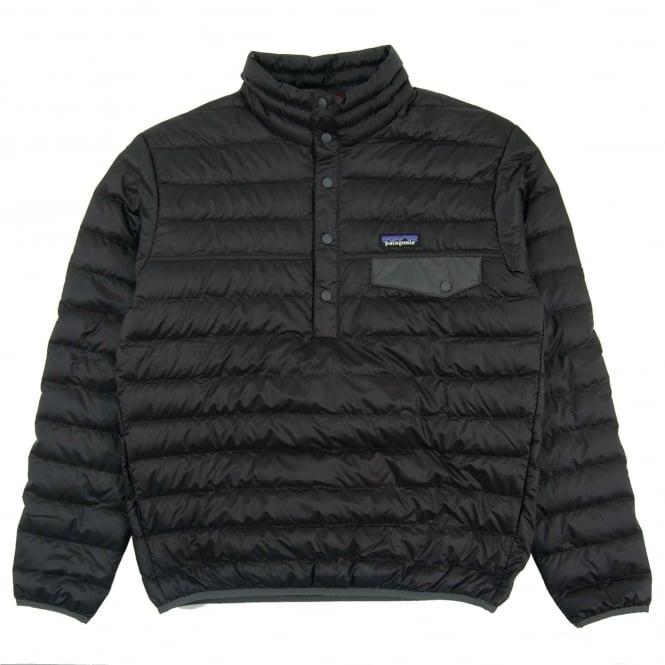 Patagonia Down Snap-T Pull Over Jacket Black