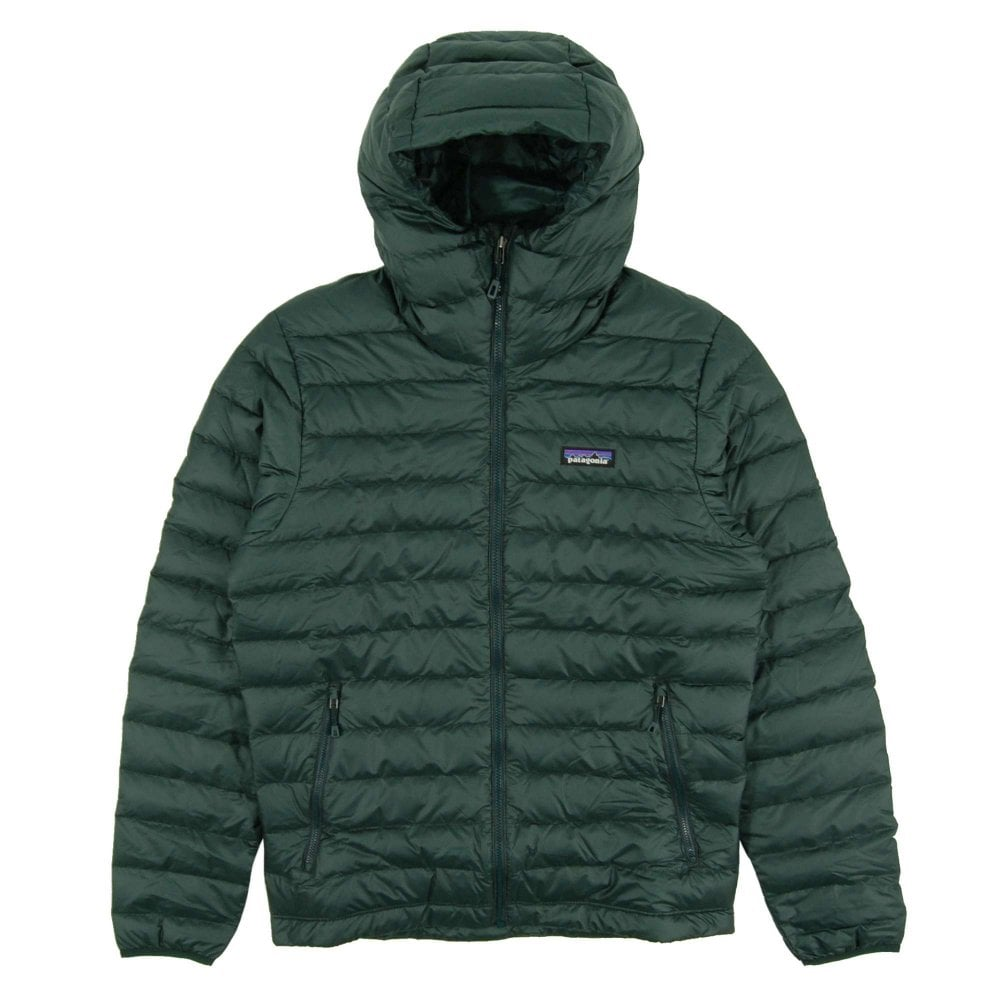 Patagonia Down Sweater Hoody Micro Green Mens Clothing From Attic