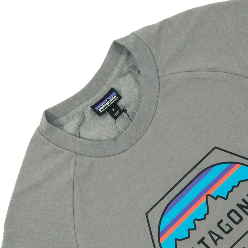 5412fab76a6e3 Patagonia Fitz Roy Hex LW Crew Sweat Feather Grey - Mens Clothing ...