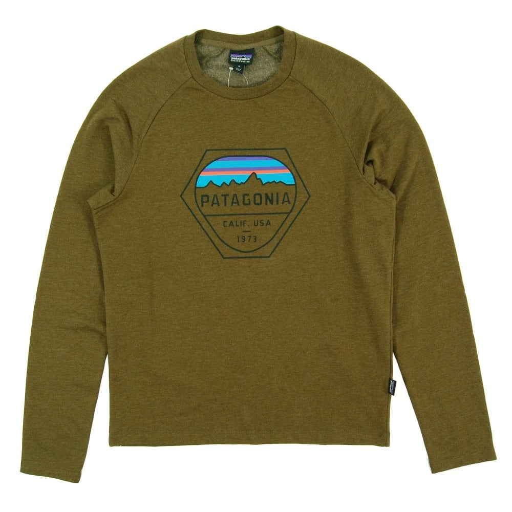 fa32e18e2eb1e Patagonia Fitz Roy Hex LW Crew Sweat Sediment - Mens Clothing from ...