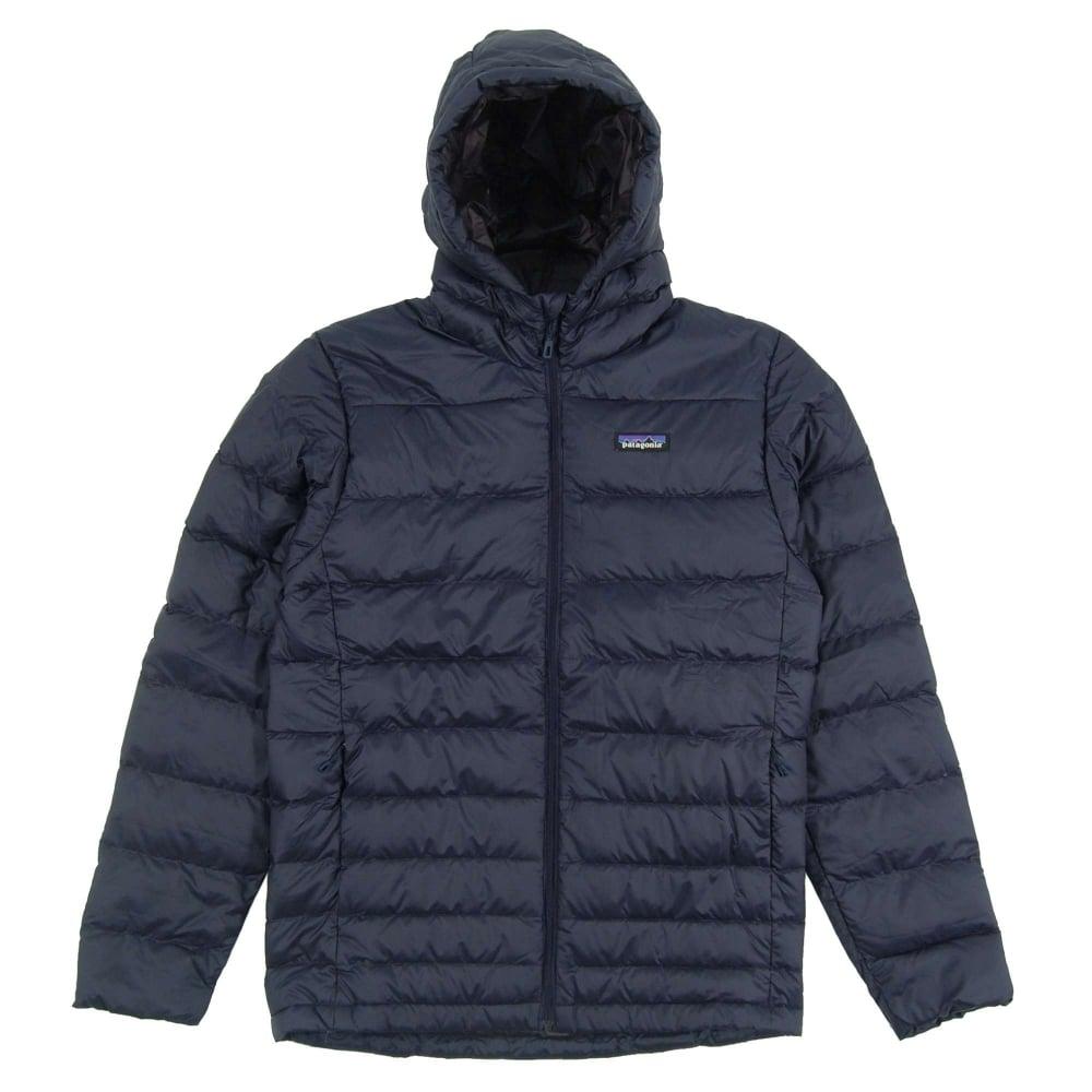 82097b5d5 Patagonia Hi-Loft Down Hoody Jacket Navy Blue