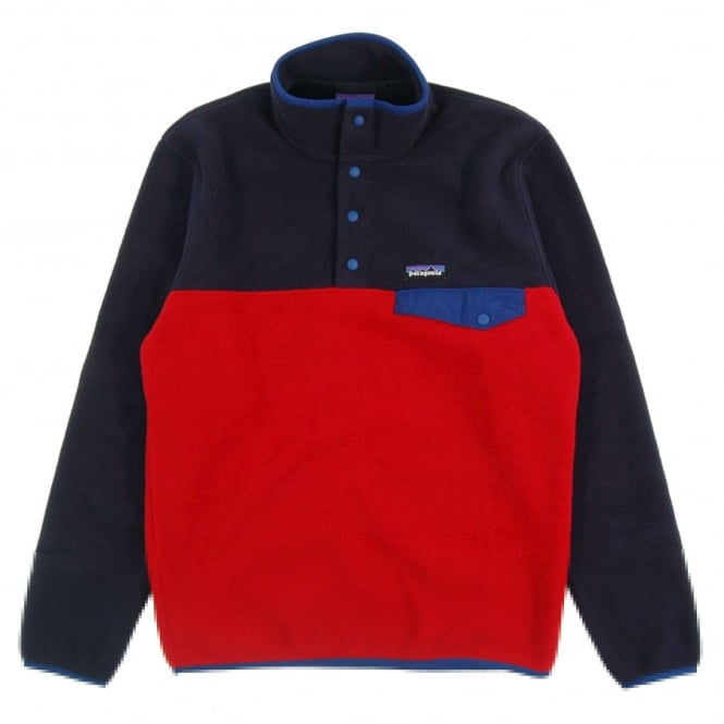Patagonia Lightweight Synchilla Snap-T Fleece Pullover Euro Classic Red