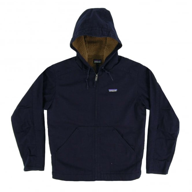 Patagonia Lined Canvas Hoody Jacket Navy Blue