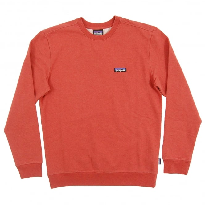 Patagonia P6 Label MW Crew Sweatshirt Roots Red