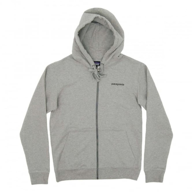 Patagonia P6 Logo MW Zip Hoody Feather Grey