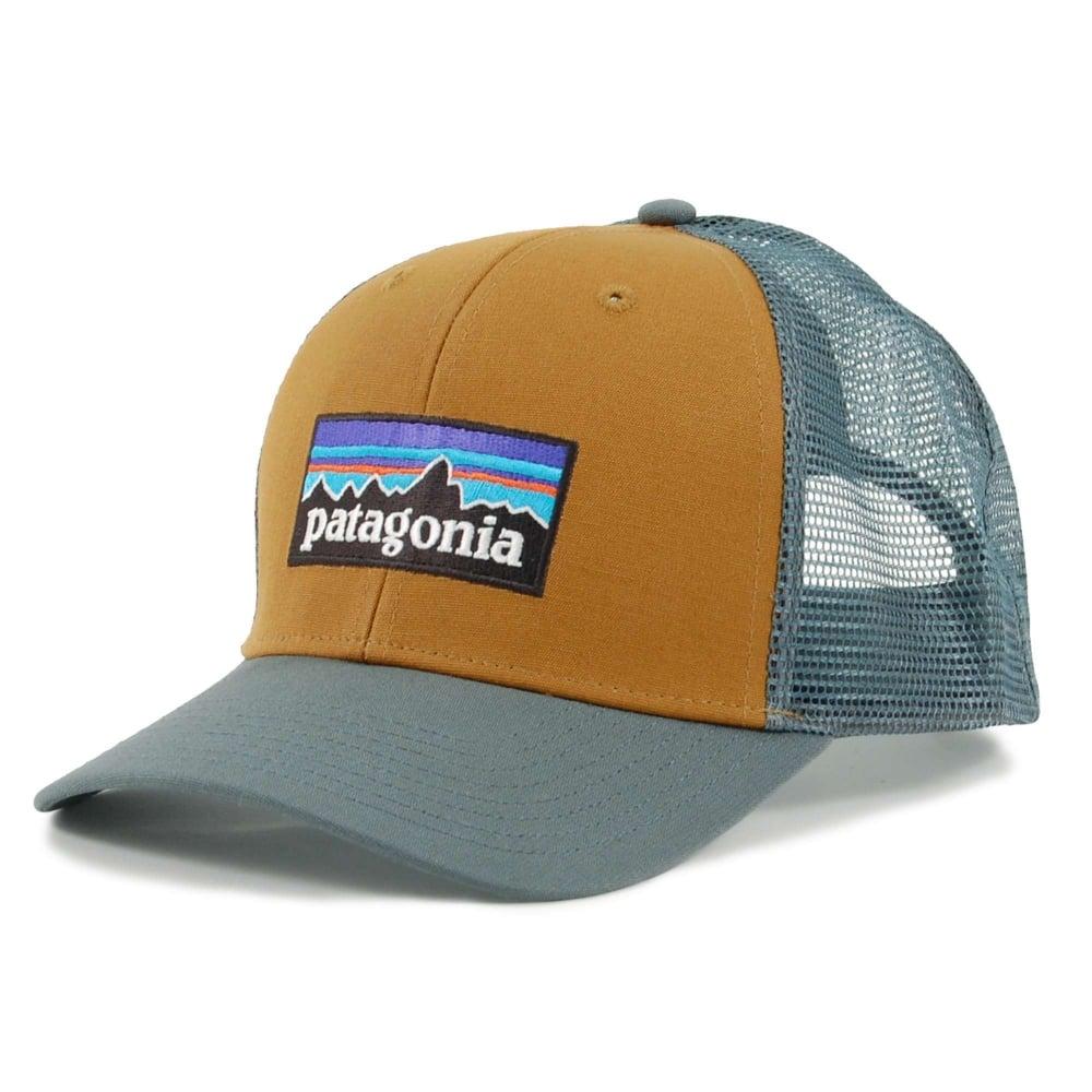 b35e000986f Patagonia P6 Logo Trucker Hat Bear Brown - Mens Clothing from Attic ...