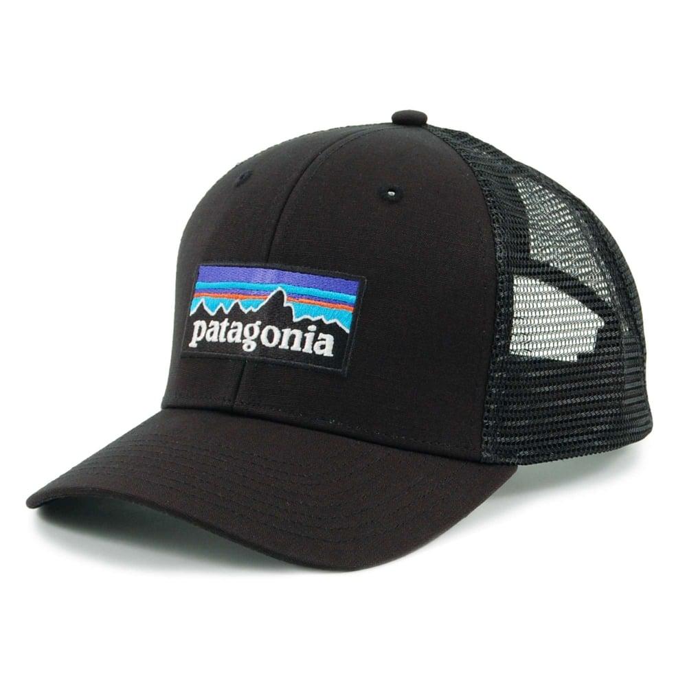 5f9f6c1914e Patagonia P6 Logo Trucker Hat Black - Mens Clothing from Attic ...