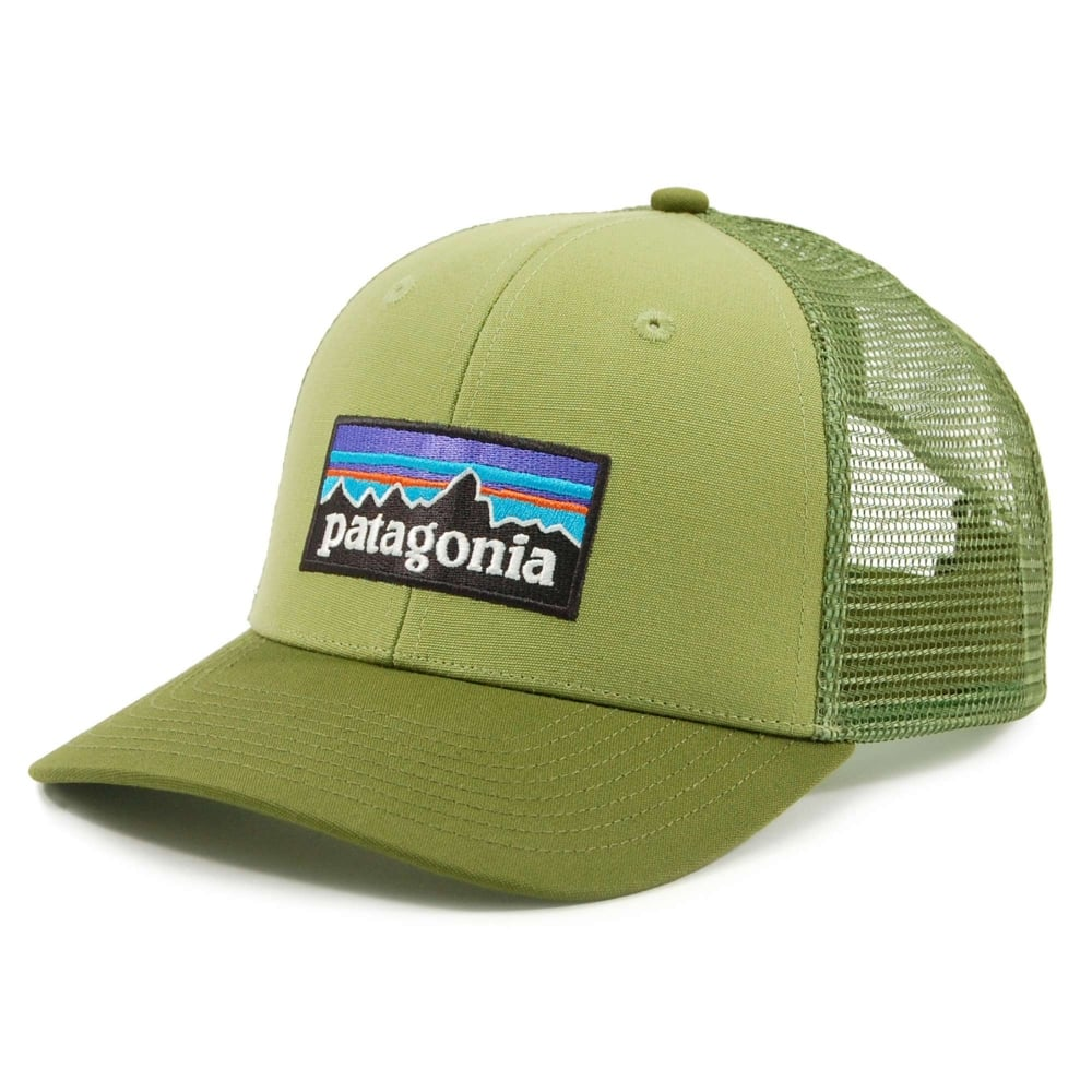 Patagonia P6 Logo Trucker Hat Crag Green - Mens Clothing from Attic ... 5bcc2bb9687