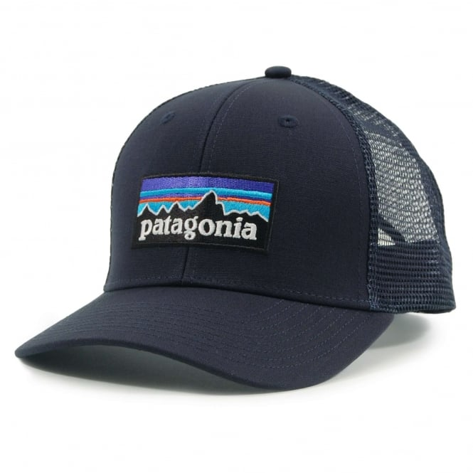 Patagonia P6 Logo Trucker Hat Navy Blue