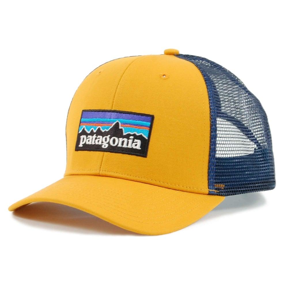 5e240191 Patagonia P6 Logo Trucker Hat Ysidro Yellow - Mens Clothing from ...