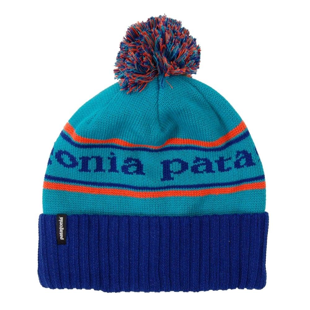 0b2365160b Patagonia Powder Town Beanie Harvest Moon Blue Park Stripe - Mens ...