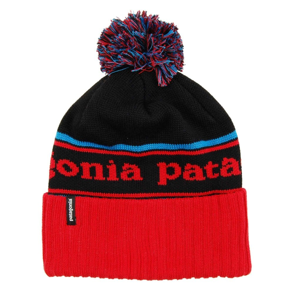 1a195715530 Patagonia Powder Town Beanie Park Stripe Tomato - Mens Clothing from ...