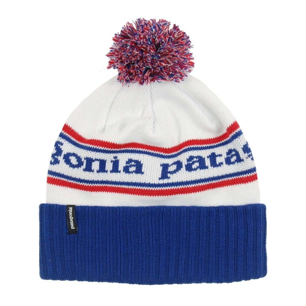 cd99e1f2fa Patagonia Powder Town Beanie Park Stripe Viking Blue - Mens Clothing ...