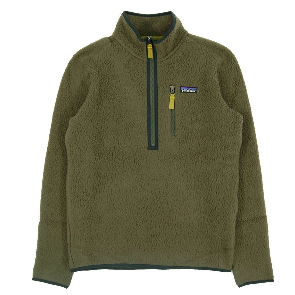 Patagonia Retro Pile Fleece Pullover Jacket Industrial Green ...