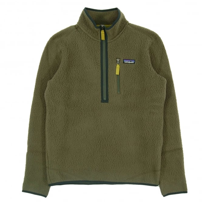 Patagonia Retro Pile Fleece Pullover Jacket Industrial Green
