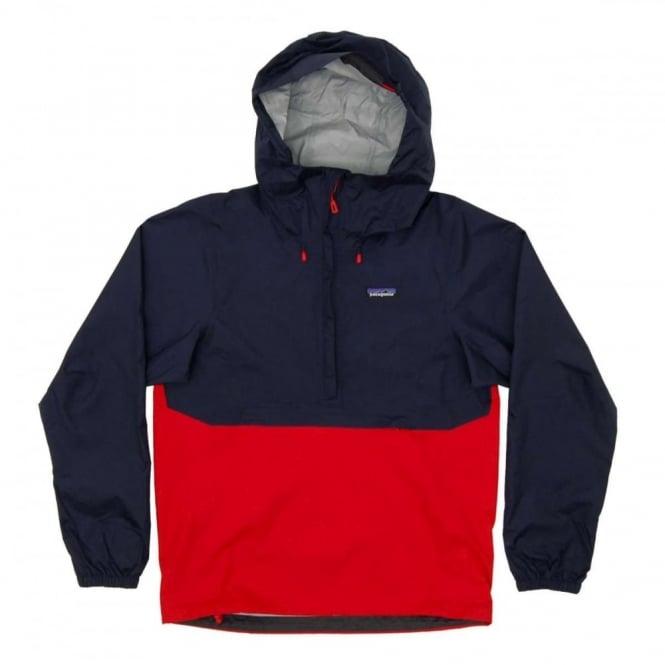 Patagonia Torrentshell Pullover Jacket Navy Blue Mens