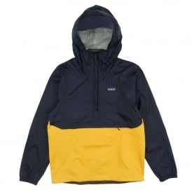 Torrentshell Pullover Jacket Navy Blue Rugby Yellow