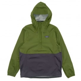 Torrentshell Pullover Jacket Sprouted Green Dolomite Blue