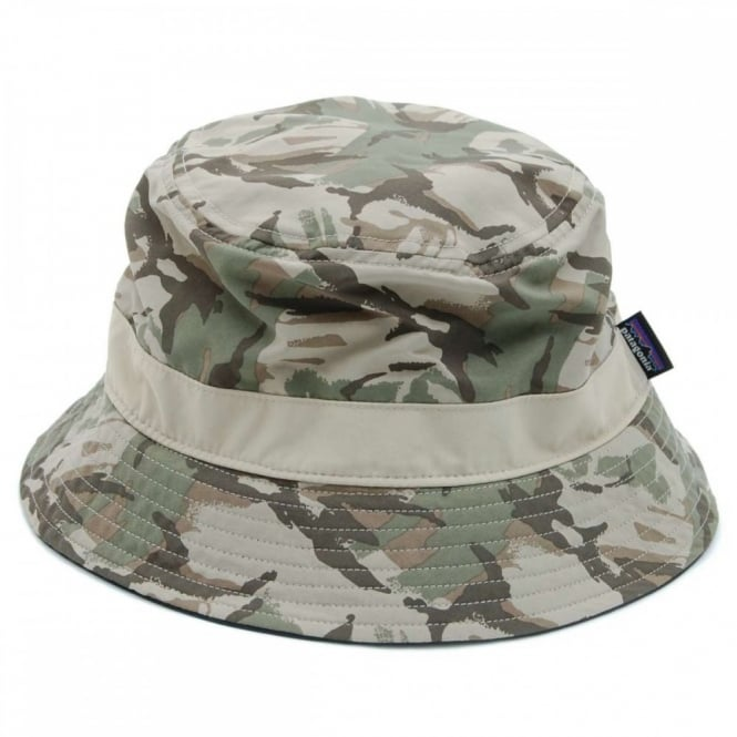 Patagonia Wavefarer Bucket Hat Painted Camo Camp Green - Mens ... 5896a1121b5