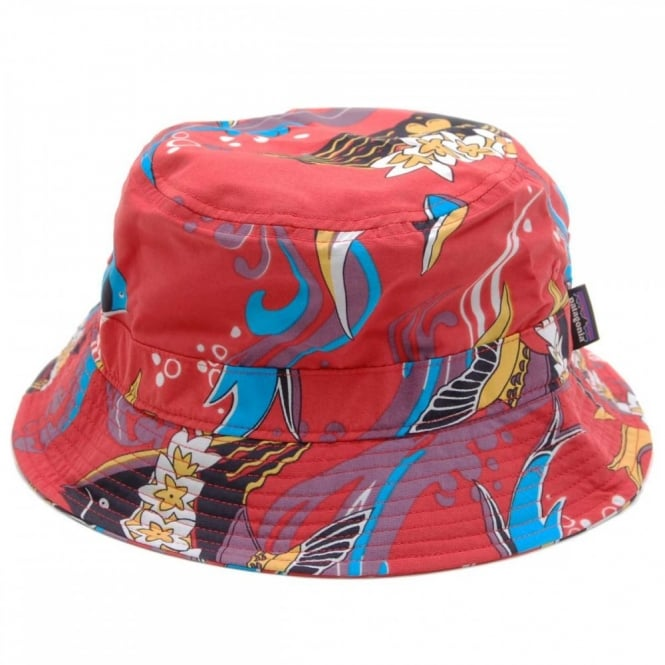 Patagonia Wavefarer Bucket Hat Paradise Fish Turkish Red - Mens ... 3c00cb7da49