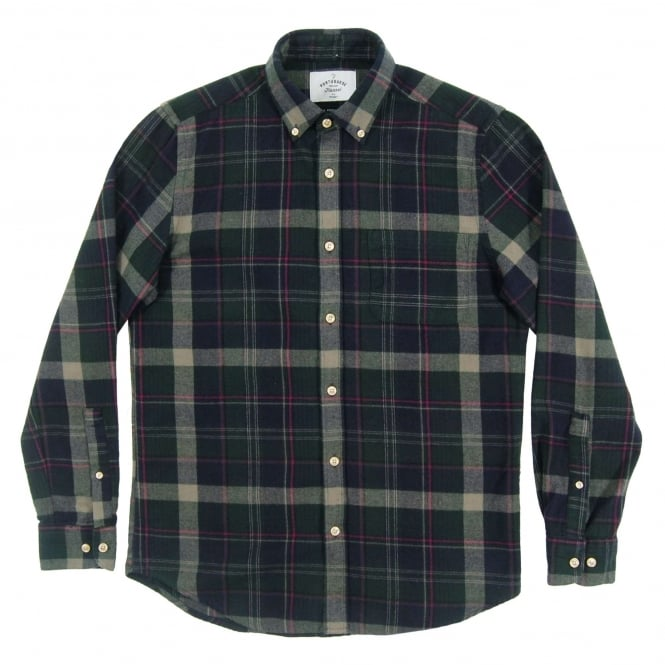 Portuguese Flannel Aire Check Shirt Green