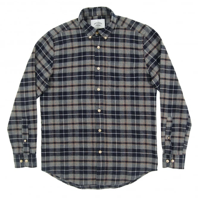 Portuguese Flannel Capa Check Shirt Grey
