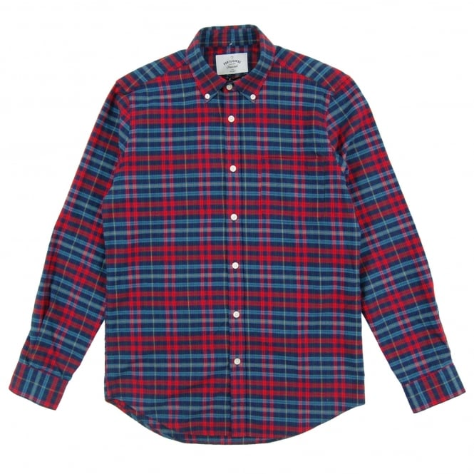 Portuguese Flannel Conde BD Check Shirt Navy