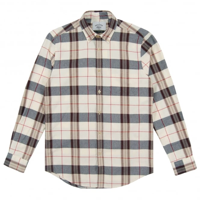 Portuguese Flannel Lamego BD Check Shirt Off White