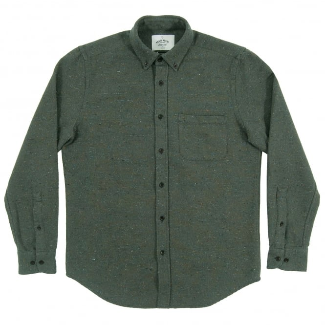 Portuguese Flannel Rude Slub Shirt Green