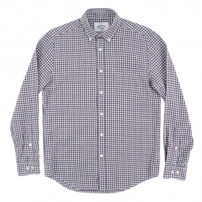 Portuguese Flannel Tela Check Shirt Blue