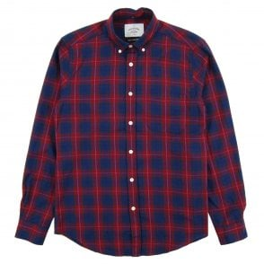 9ee26d8e3d3 Portuguese Flannel Capa Check Shirt Grey - Mens Clothing from Attic ...