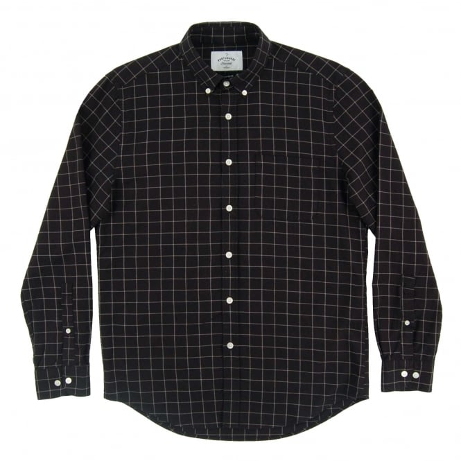 Portuguese Flannel Zochi Check Shirt Black