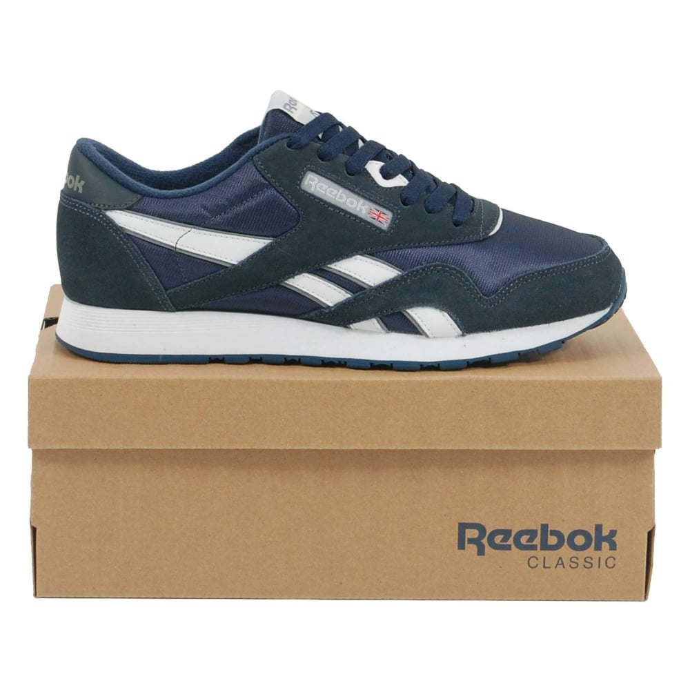 e44dbf67a5e Reebok Classic Nylon Team Navy Platinum - Mens Clothing from Attic ...