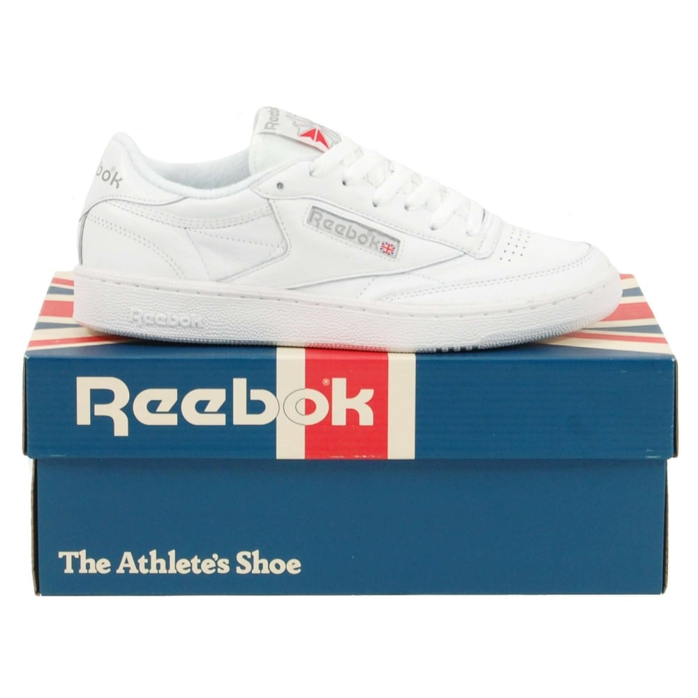 2bb0f05900f0d Reebok Club C 85 Archive White Carbon Excellent Red - Mens Clothing ...