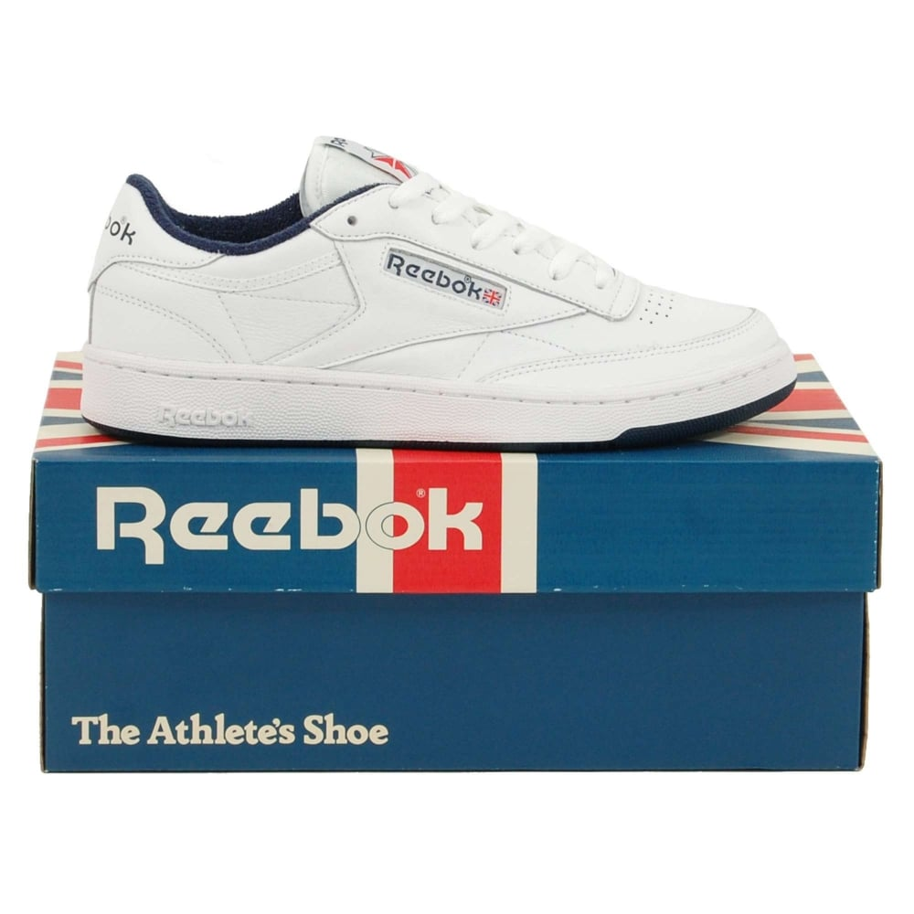 86c70b5b11a Reebok Club C 85 Archive White Collegiate Navy Excellent Red - Mens  Clothing from Attic Clothing UK