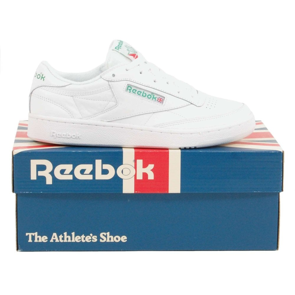 0e076654c9e Reebok Club C 85 Archive White Glen Green Excellent Red - Mens ...