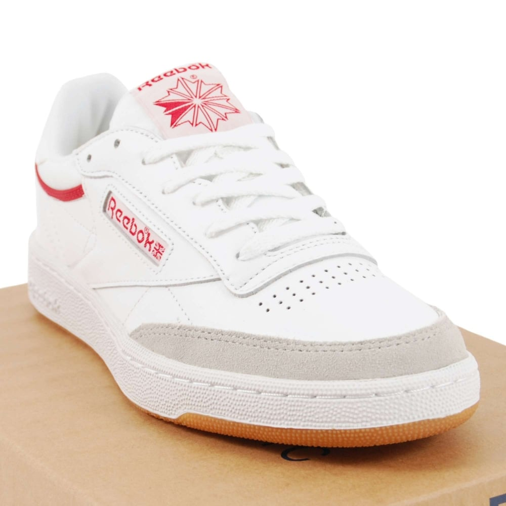 9254fe160f0789 Reebok Club C 85 CP White Excellent Red Snow Grey Gum - Mens ...