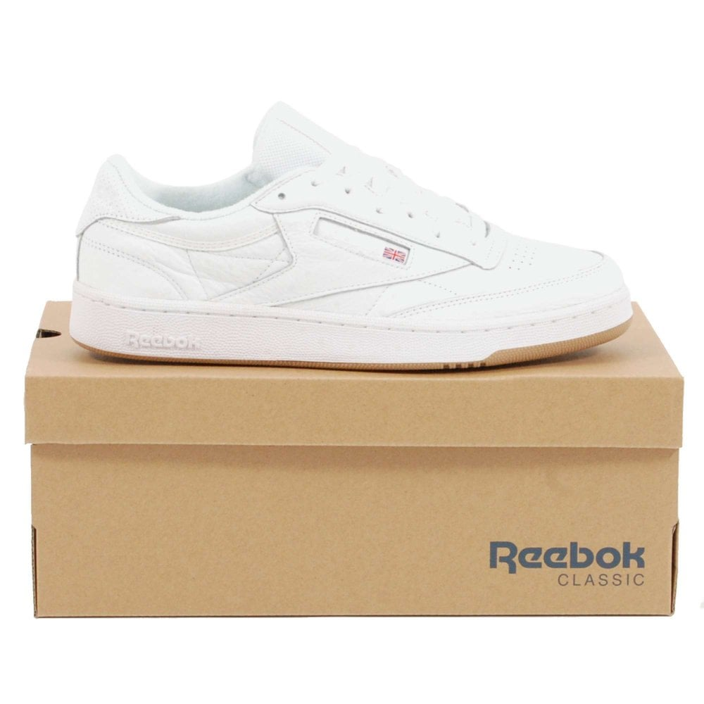 Reebok Club C 85 ESTL White Washed Blue Gum - Mens Clothing from ... 6081dcaf85a8c