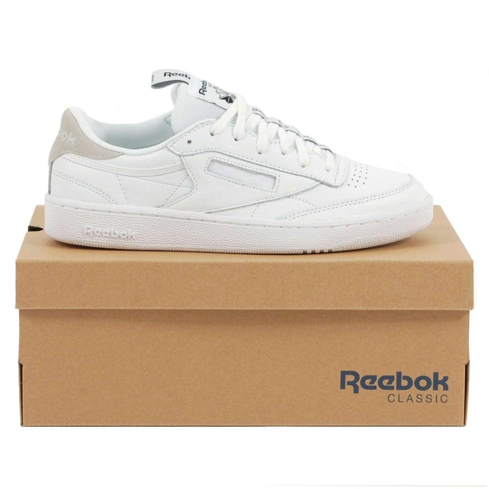 2af505e7c79dd Reebok Club C 85 IT White Skull Grey Black - Mens Clothing from ...