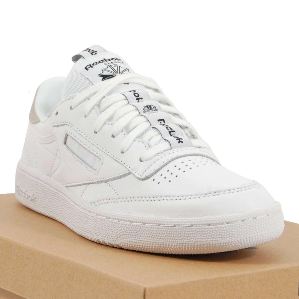 34a851748a0 Reebok Club C 85 IT White Skull Grey Black - Mens Clothing from ...