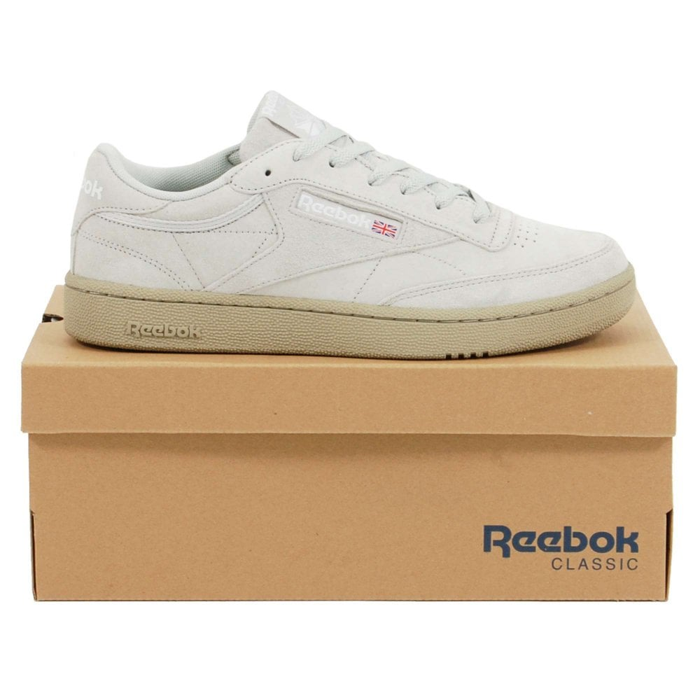 b6c97235562c9 Reebok Club C 85 MU Skull Grey Super Neutral White - Mens Clothing ...