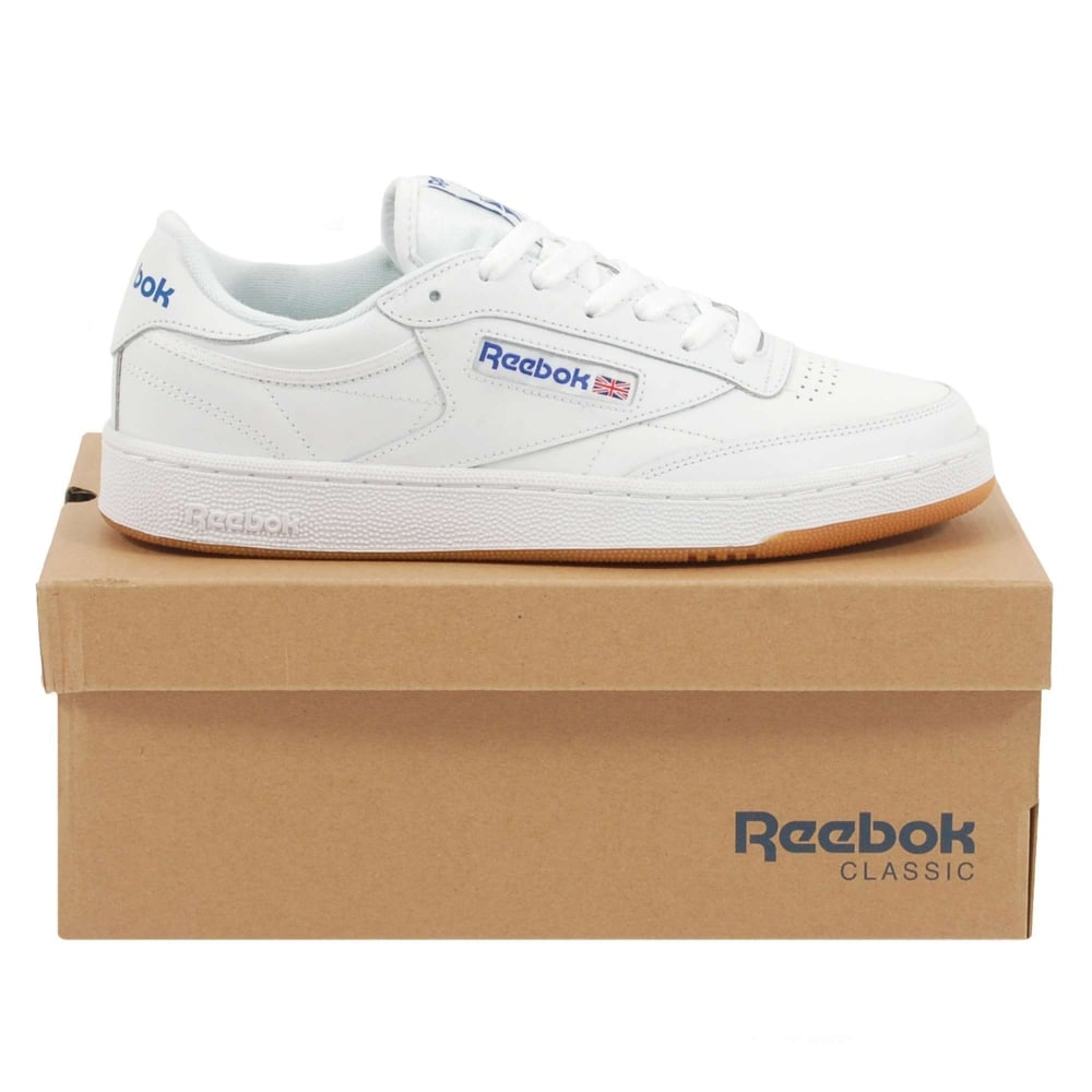 ee7051a19fb Reebok Club C 85 White Royal Gum - Mens Clothing from Attic Clothing UK