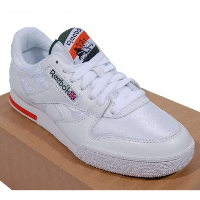 Reebok Phase 1 Pro Court Surfaces White Racing Green - Mens Clothing ... 7240bf19b