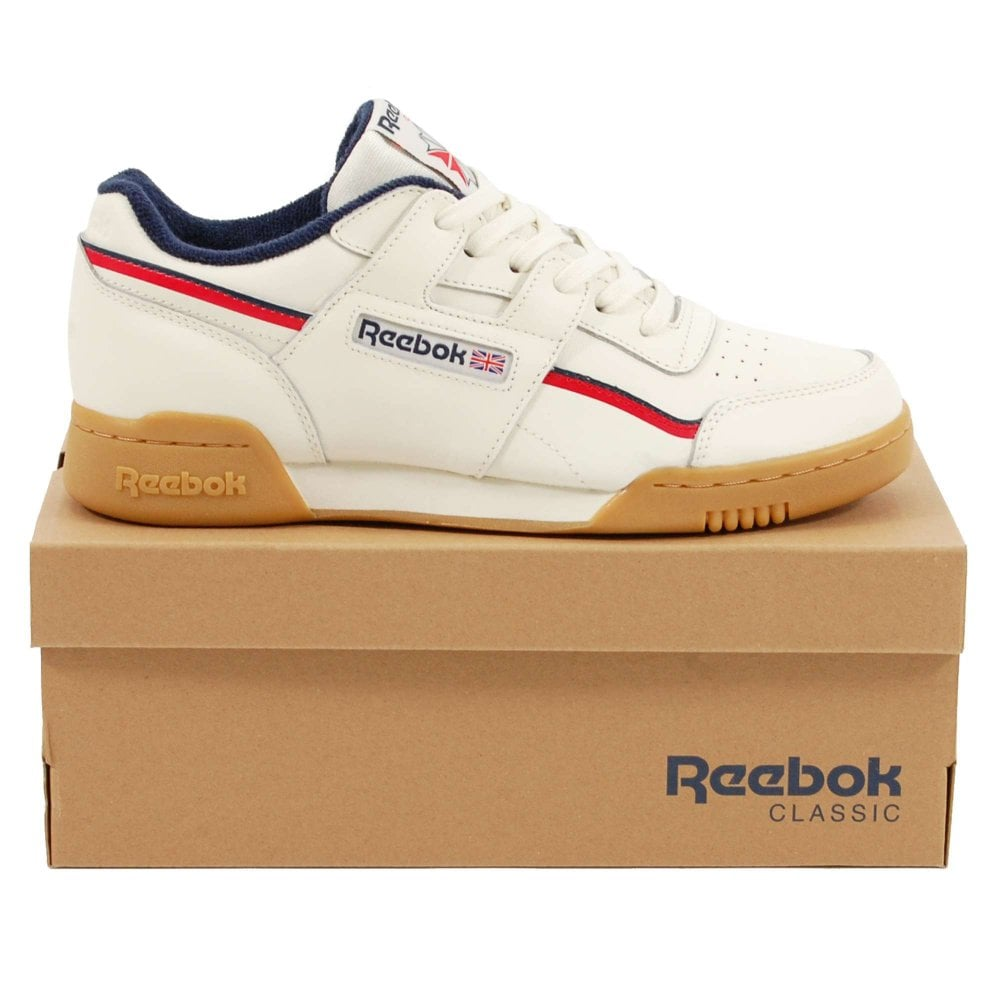 Reebok Workout Plus MU Classic White Navy Red - Mens Clothing from ... 955a238f3