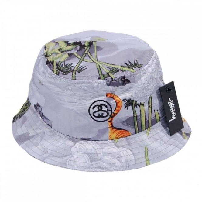 cc25e479d Stussy Chinese Bucket Hat Grey