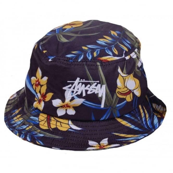 11c634463a3 Stussy Paradise Bucket Hat Black - Mens Clothing from Attic Clothing UK
