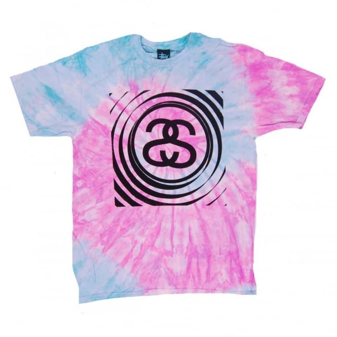 Stussy spiral ss t shirt aqua tie dye mens clothing from for Nike tie dye shirt and shorts