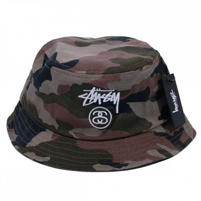 58bf8cfa9 Stussy Stock Lock SP15 Bucket Hat Olive Camo