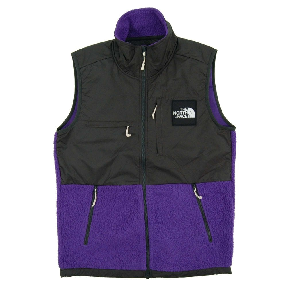 f877e3882 The North Face Denali Fleece Vest Tilandsia Purple Asphalt Grey