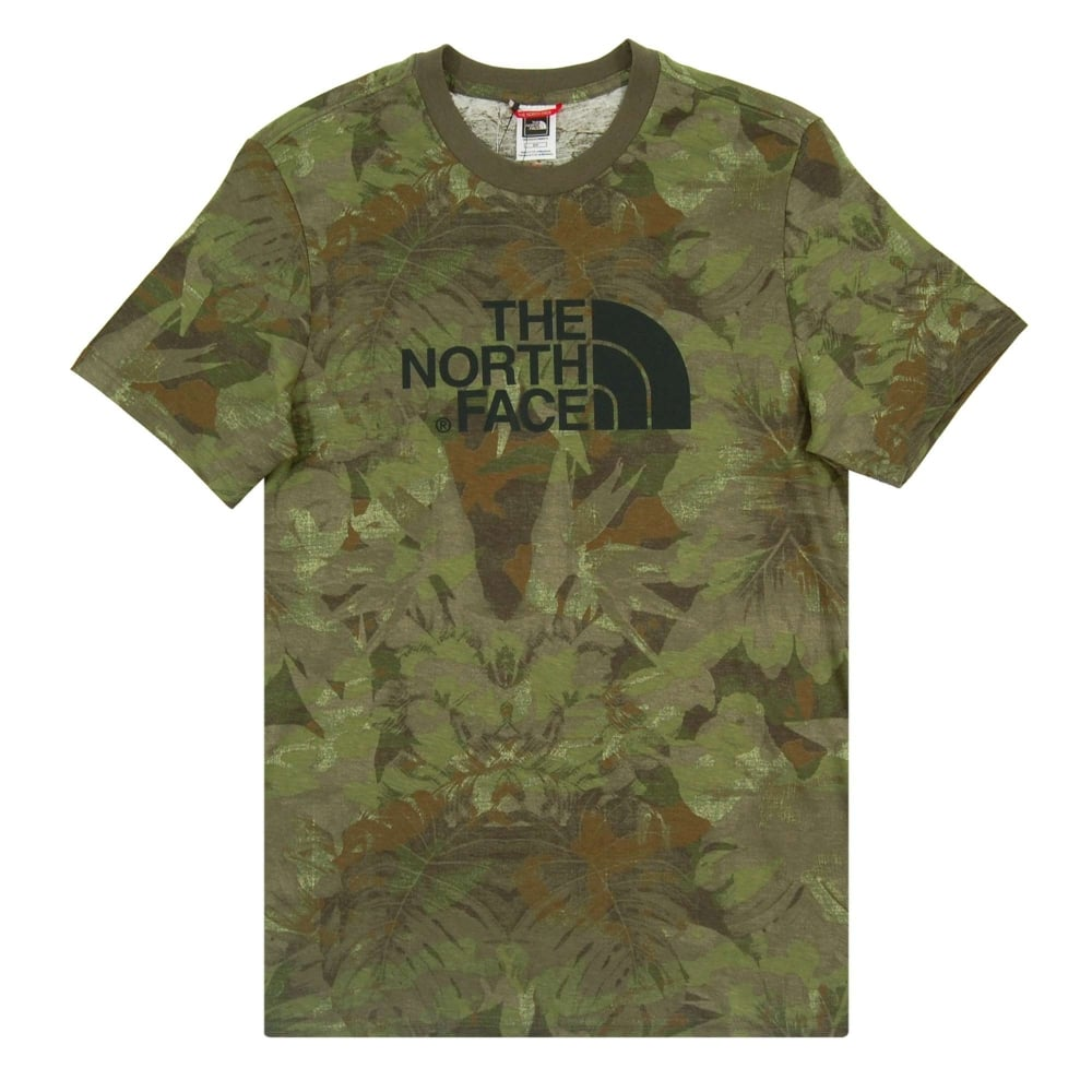 644000b44 The North Face Easy T-Shirt English Green Camo Print